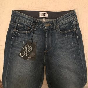 BNWT Paige Hoxton high rise skinny jeans